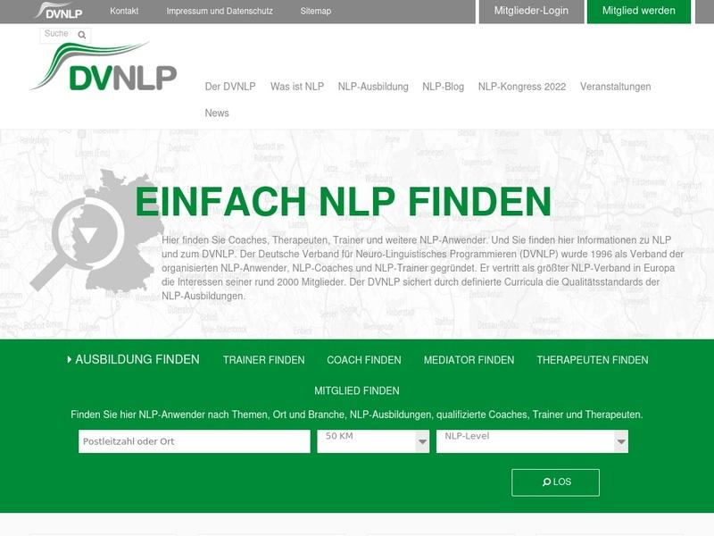 Screenshot von www.dvnlp.de